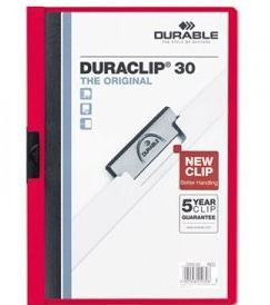Durable Duraclip 30 Page Folder - Red