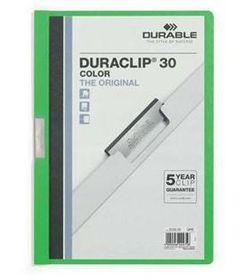 Durable Duraclip 30 Page Folder - Green