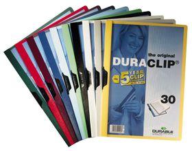 Durable Duraclip 30 Page Folder - Blue