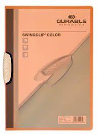 Durable Swingclip 30 Page Capacity A4 Folder - Orange