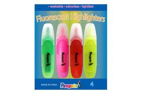 Penguin Highlighters (Pack of 4)