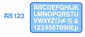 Helix Lettering Stencil 20mm - Blue