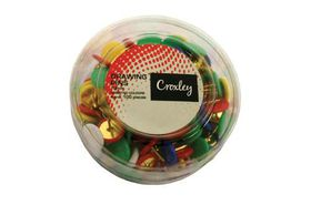 Croxley Drawing Pins - Assorted Tub (11 mm)