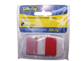Sello-Flag Repositionable PP Flags - Red (50 Sheets)