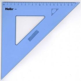 Helix Set Square 45 Degrees 21cm - Clear