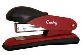 Croxley Half Strip Stapler Metal Body with Plastic Trim - Red