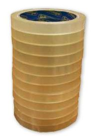 Sellotape Clear Tape with Large Core - 12mm x 66m (Pack of 12)