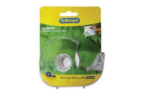 Sellotape Invisible Tape with Dispenser - 18mm x 15m