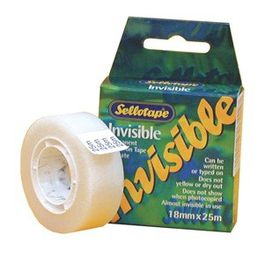 Sellotape Invisible Acetate Tape - 18mm x 25m