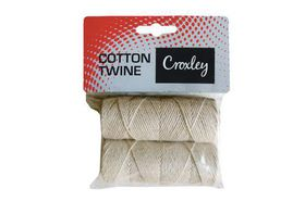 Croxley Cotton Twine Carded - 2 Rolls (50g)