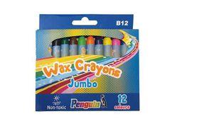 Penguin B12 Jumbo Wax Crayons - (Box of 12)