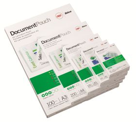 GBC Document Gloss Laminating Pouches - A5 250(2x125)micron (100 Pack)