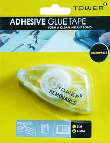 Tower Adhesive Glue Tape Removable - 5m x 6mm
