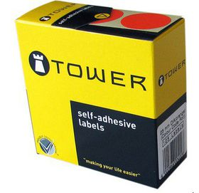 Tower C25 Colour Code Labels - Red