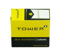 Tower White Roll Labels - R1925
