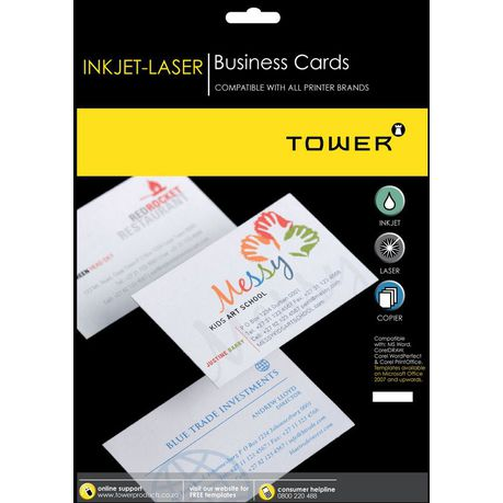 Tower B445 Business Cards 10 Cards Per Sheet 10 Sheets Buy
