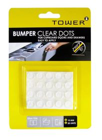 Tower Bumper Clear Dots (10mm)