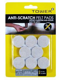 Tower Anti-Scratch Felt Pads - Cream (25mm)