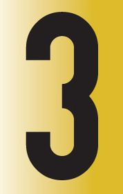Tower Adhesive Reflective Number Sign - Large 3