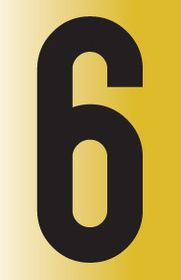 Tower Adhesive Reflective Number Sign - Large 6