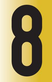 Tower Adhesive Reflective Number Sign - Large 8