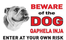 Tower ABS Sign - Beware Of The Bulldog