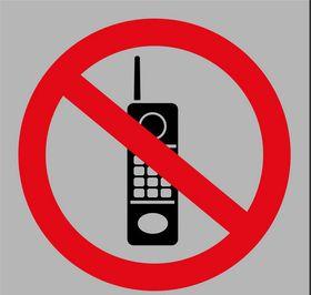Tower Aluminium Sign - No Cellphone
