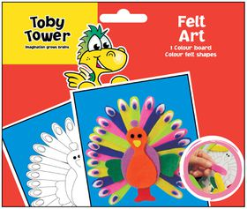 Toby Tower Felt Art - Peacock