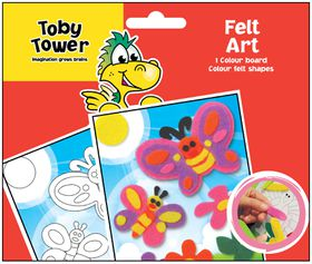 Toby Tower Felt Art - Butterfly