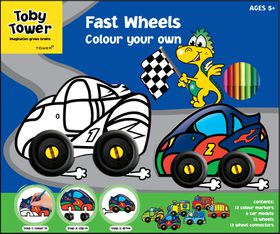 Toby Tower Medium Activity Colour Your Own - Fast Wheels