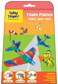 Toby Tower Paint Your Own - Foam Planes