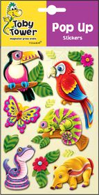 Toby Tower Pop Up Stickers - Parrot
