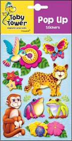 Toby Tower Pop Up Stickers - Monkey