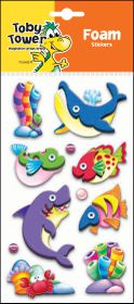 Toby Tower 3D Foam Stickers - Shark