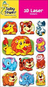 Toby Tower 3D Laser Stickers - Animals