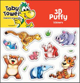 Toby Tower Puffy Stickers - Bear