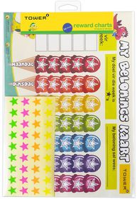 Tower Kids A4 Reward Chart - Afrikaans