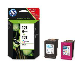 HP 121 Combo-pack Black/Tri-color Ink Cartridges