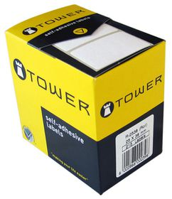 Tower R2538 White Roll Labels