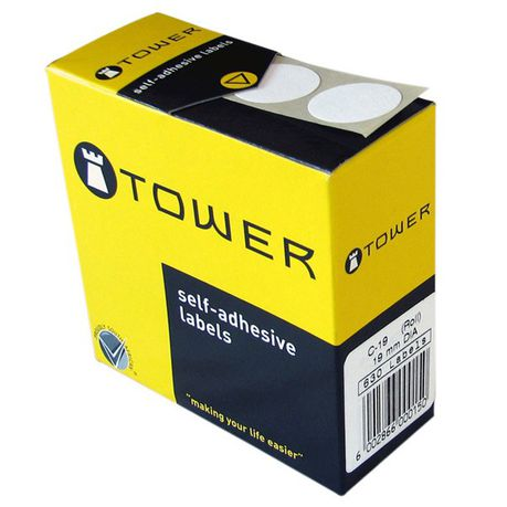 Tower White Roll Labels - C19