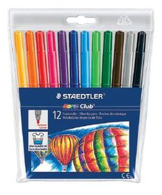 Staedtler Noris Club 12 Fibre Tip Pens