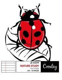 Croxley JD432FM F&M 72 Page Nature Study A4 Softcover Book (Pack of 10)