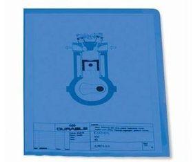 Durable Transparent Pocket Portrait - Blue