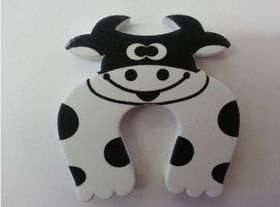 4aKid - Foam Door Stopper - Black and White Cow
