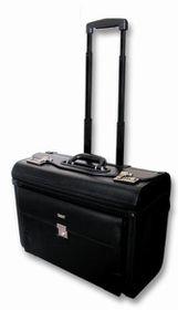 Tosca Laptop Pilot Case with Wheels - Black