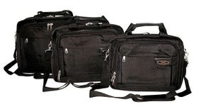 Tosca Classic Deluxe 1680D Laptop Briefcase 15 Inch - Black