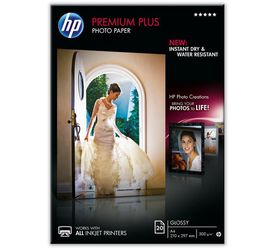 HP Premium Plus Glossy 300gsm Photo Paper - A4 (20 Sheets)
