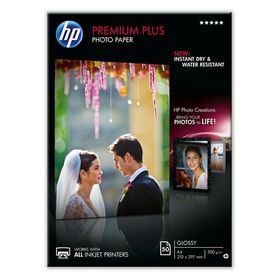 HP Premium Plus Glossy 300gsm Photo Paper - A4 (50 Sheets)