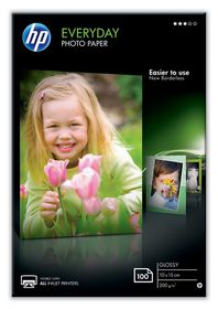 HP Everyday Glossy 200gsm Photo Paper - 10x15cm (100 Sheets)