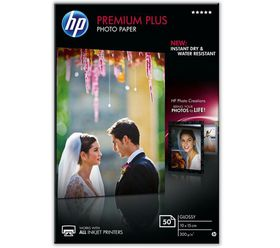 HP CR695A Premium Plus Glossy Photo Paper - 10cm x 15cm
